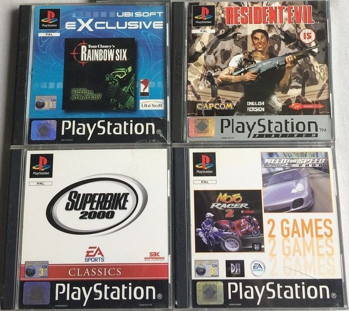 Microsoft - 5 PS1 / Playstation 1 games incl. booklets
