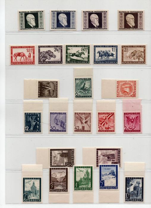 Austria 1946/1980 - Selection of stamps of the period