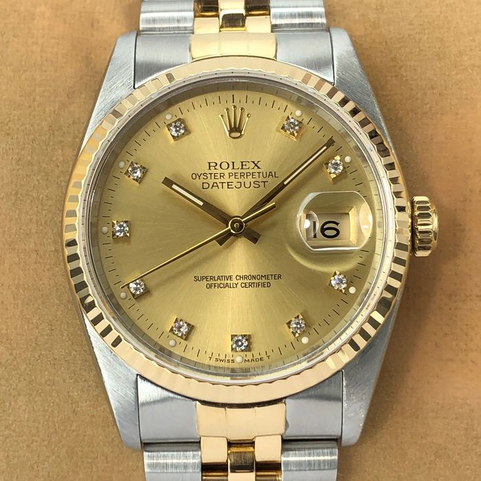 Rolex - Datejust Diamond Dial - 16233 - Unisex - 1989