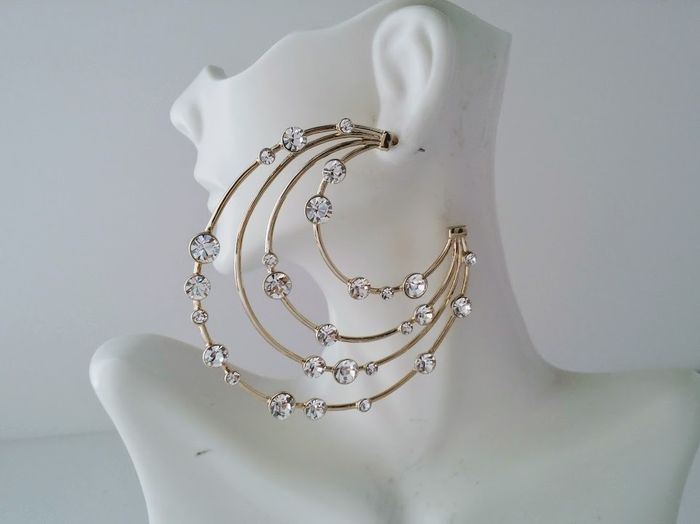 Givenchy - Crescent Hoops Post - Earrings
