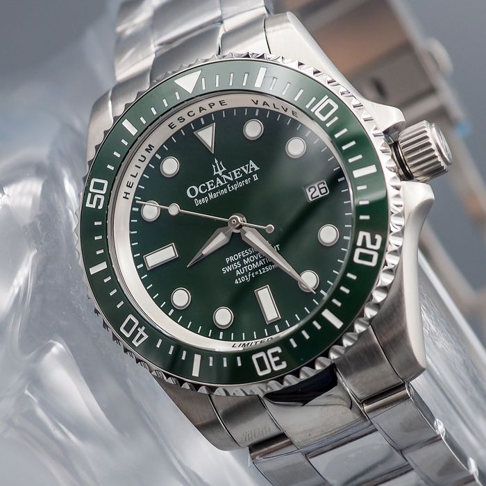 """Preview of the first image of Oceaneva™ - Deep Marine Explorer II Automatic - GRII200GRST - """"NO RESERVE PRICE"""" - Men - 2011-prese."""