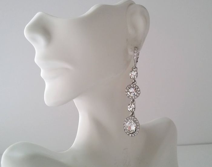 Givenchy - Clear Crystal Halo - Earrings