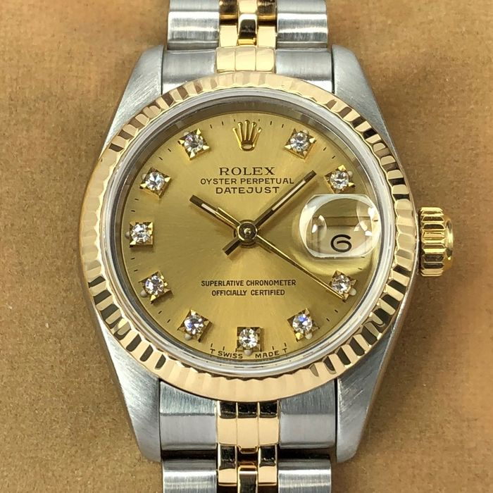 Rolex - Datejust Lady Diamond Dial - 69173 - Women - 1993