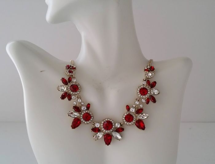Givenchy - Red Crystal Halo - Necklace
