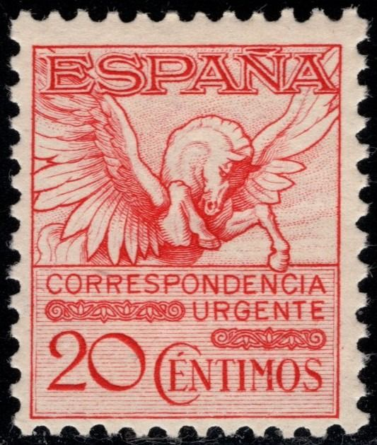 Spain 1931 - 'Urgencia'.20 cts pink. Centred. 592A