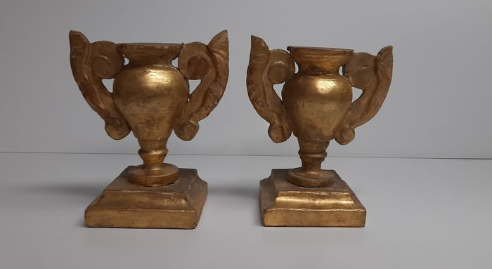 Palm holder (2) - Gold, Wood - Late 18th century