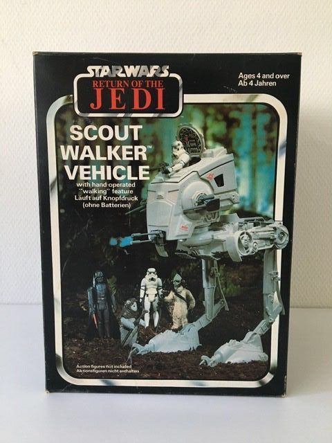 Star Wars - Return of the Jedi - Palitoy - Clipper Benelux - vintage - 1983 - AT-ST Scout Walker vehicle