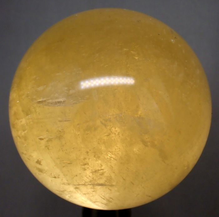 Very Rare A ++ High Quality Yellow Calcite Sphere - 87.29×87.29×87.29 mm - 981.8 g