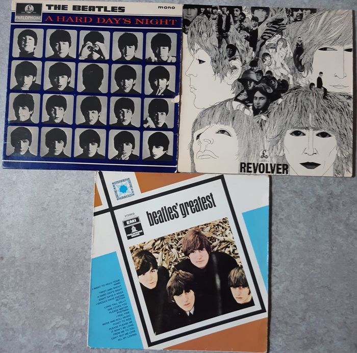 Beatles - A hard day's night / Revolver / Beatles' greatest - Multiple titles - LP's - 1964/1975
