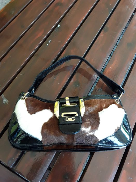 Dolce & Gabbana Dolce gabbana bag in pony skin and black patent leather with golden accessories.