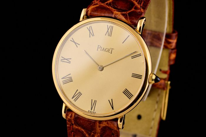 "Piaget - 18K Gold Ultra Slim Manual - ""NO RESERVE PRICE"" - 9025 - Men - 1990-1999"