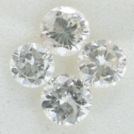 4 pcs Diamante - 0.83 ct - Redondo brillante - F-H - SI3-I2     GWLAB certified    ** No Reserve Price **