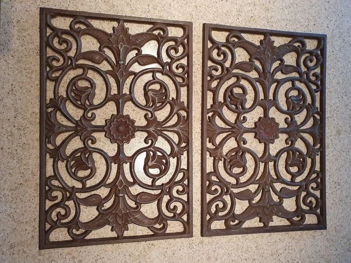 Wall decoration (2) - Iron (cast/wrought) - 21st century