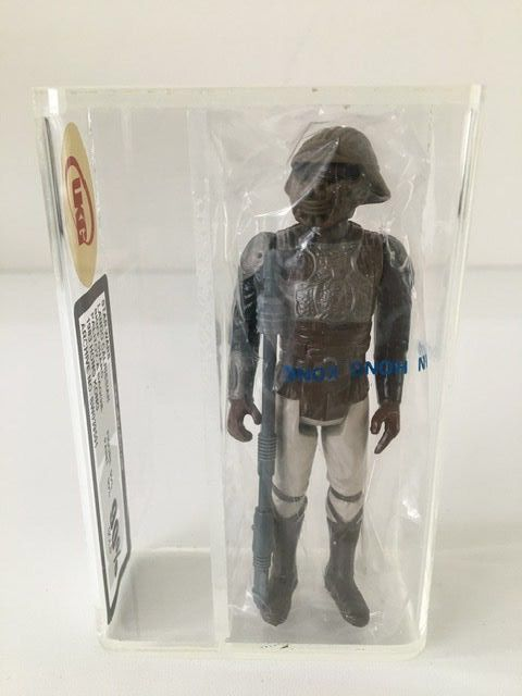 Star Wars - Return of the Jedi - Palitoy - Pupazzetto - vintage - 1983 - Lando Calrissian Skiff Guard disguise UKG Gold