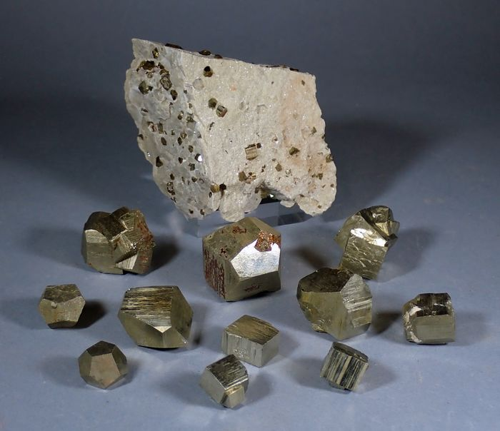Pyrite Mineral Collection - 348 g - (12)