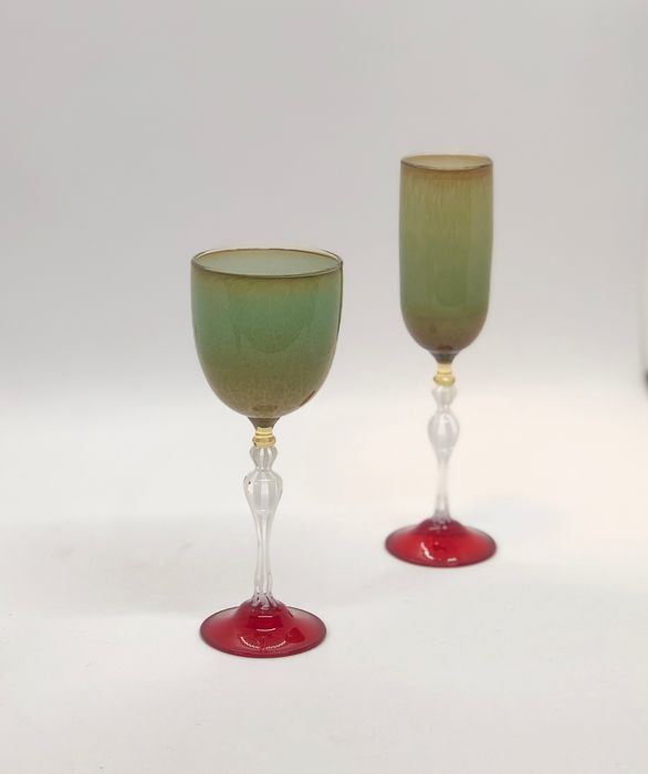 Igor Balbi - Pair of artistic goblets | 2003 collection