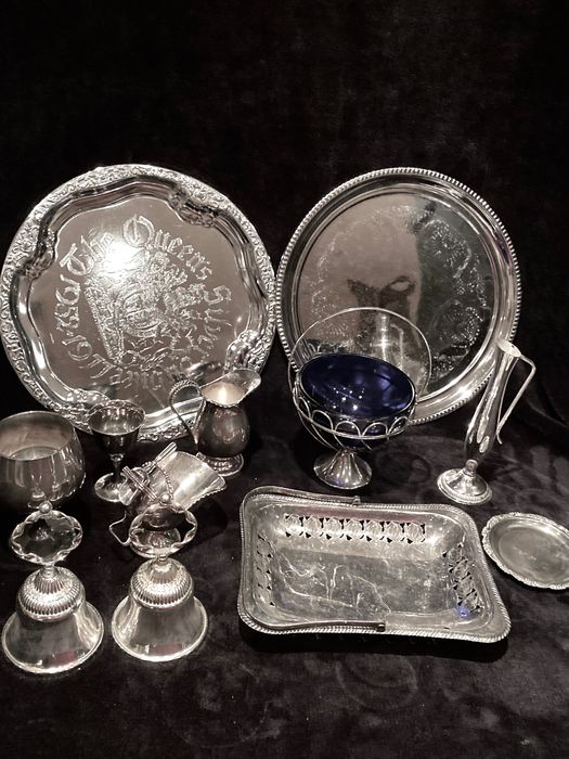 Massive lot: Mid 20th Century Vintage Silver Plated Miscelaneous Lot - Silverplate