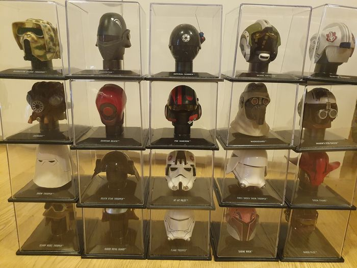 Star Wars - Lot of 20 - Helmets - see photos and description - DeAgostini - 1:50