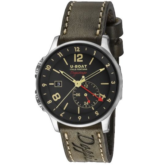 U-Boat - 1938 Doppiotempo Black - 8400/A - Men - Brand New