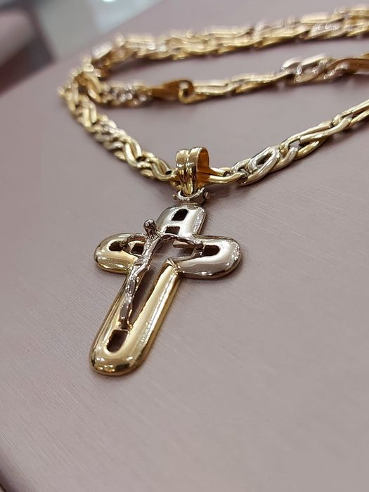 18 kt. Gold, White gold, Yellow gold - Necklace with pendant