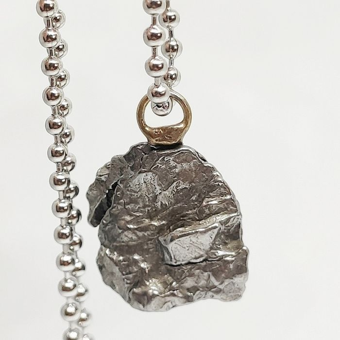 Campo del Cielo Stainless Steel Pendant + Chain - 10.29 g