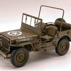 Welly - Jeep Willys 1/4 TON U.S. Army Truck - Olive - 1940-1949