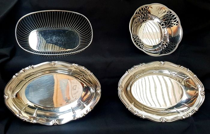 Alessi - Alessi - Bowls, bread basket, cup (6) - Silverplate