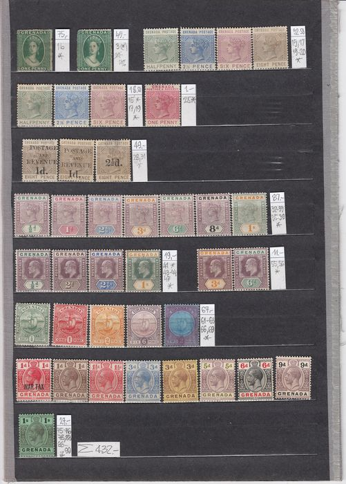 Commonwealth britannique 1861/1921 - Stamps from different countries of the colonies - Michel