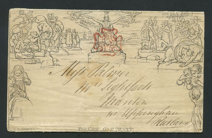Groot-Brittannië 1840 - Mulready 1d Lettersheet dated MAY 15 1840 - Stanley Gibbons