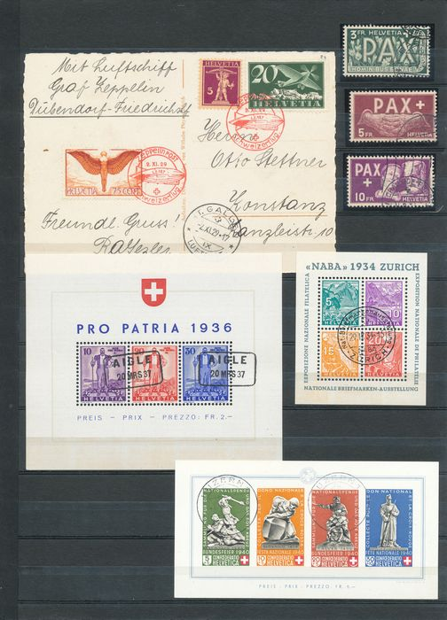 Schweiz 1909/1963 - Advanced collection in two SAFE albums