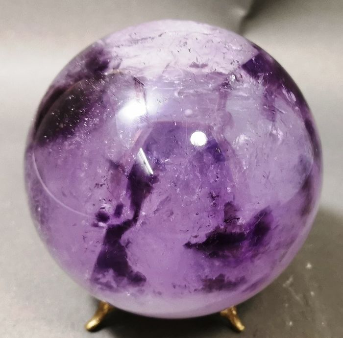 Natural Amethyst Healing Sphere - 97×97×97 mm - 1280 g - (1)