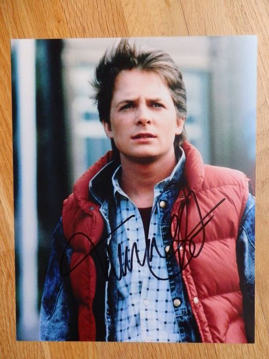 Ritorno al futuro - Michael J. Fox (Marty McFly) - Autografo, Fotografia Signed in person, Berlin Tegel Airport 2011 (Goldene Kamera Award)