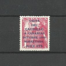 Espagne 1951 - 'Visita del Caudillo a Canarias' (Visit of Franco to the Canary Islands) set - Edifil 1088/1090