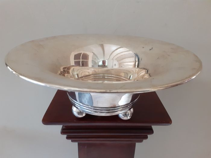 Heavy silver-plated design bowl (1) - Art Deco - heavy plated