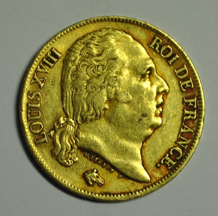 France. Louis XVIII (1814-1824). 20 Francs 1818-A, Paris