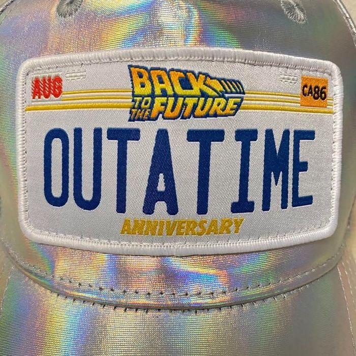 """Ritorno al futuro - Licensed 35th Anniversary Rainbow Cap with """"Out A Time"""" logo - Size adjustable - Sold Out - Universal"""