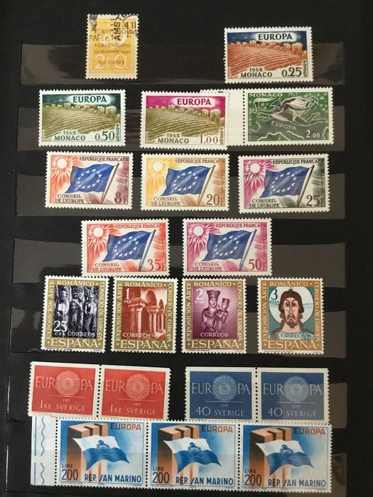 """Europe 1959/1963 - Lot of """"Europa"""" stamps from 1959 to 1963 and collection """"Weltflüchtlingsjahr 1960"""" (World Refugee Year 1960) - Michel"""