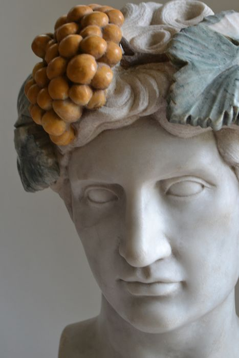 Image 3 of Studio Todini - Sculpture, bust of Antinous in Dionysian version - 51 cm - Marble - Late 20th centu