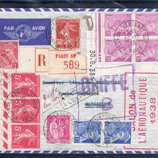 France - Airmail, 1938.