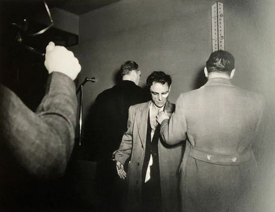 Weegee (Arthur Fellig, 1899-1968) - Anthony Esposito, booked on suspicion of killing a policeman, New York, January 16, 1941