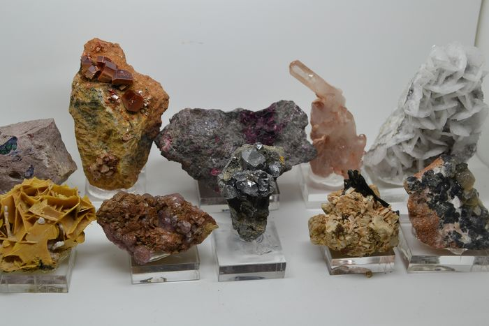 Collection good minerals from Morocco. - 1.2 kg - (10)
