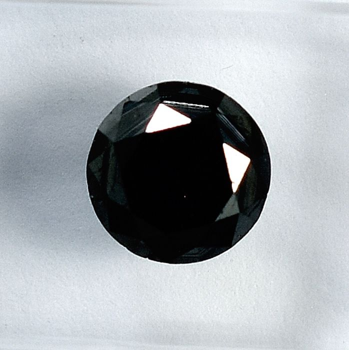 Diamond - 1.72 ct - Brilliant - Black - NO RESERVE PRICE Treated Colour