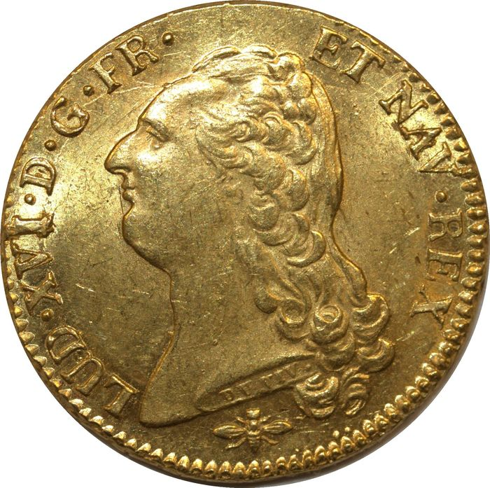 France. Double Louis d'or 1786-D (Lyon)