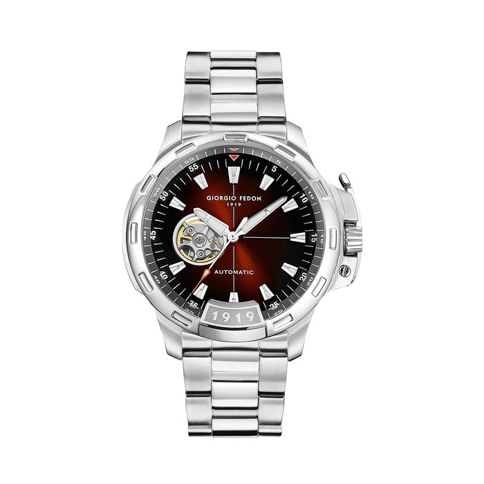"""Giorgio Fedon - Automatic Timeless IX Brown Dial Stainless Steel Bracelet - GFCK004 """"NO RESERVE PRICE"""" - Men - 2011-present"""