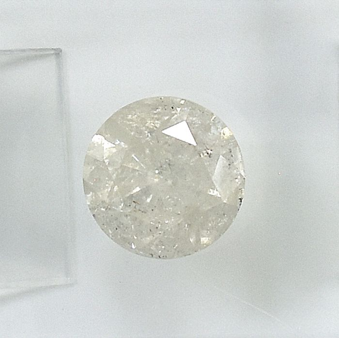 Diamant - 1.25 ct - Brillant - J - I2 - NO RESERVE PRICE