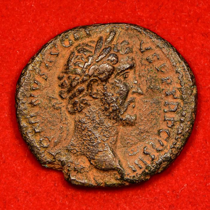 Roman Empire. Antoninus Pius (AD 138-161). Æ As,  Rome, AD 140-144