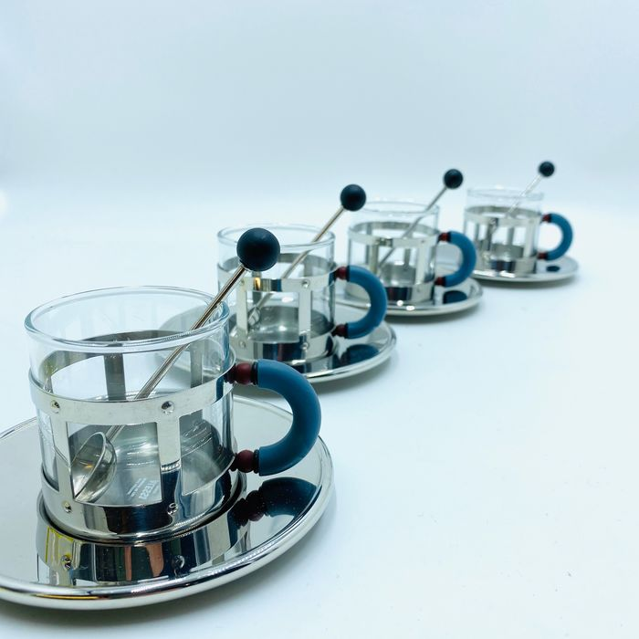 Michael Graves - Alessi - Espresso cup and saucers (4)