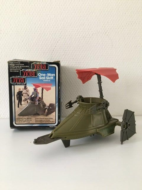 Star Wars - Return of the Jedi - Palitoy - Clipper Benelux - Veicolo - vintage - 1983 - One- Man Sail Skiff Vehicle