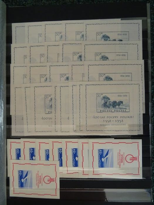 Polen - Collection of blocks and better series - 1920s-1950s
