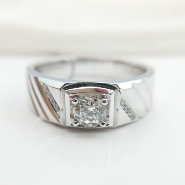 PT950 Platinum - Ring - 0.50 ct Diamond - Diamonds